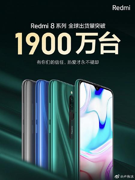 Redmi продала свыше 19 миллионов смартфонов серии Redmi 8