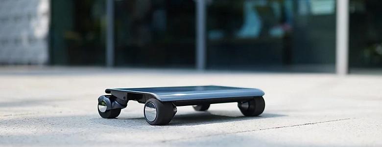 Walkcar — короткобазный электроскейтборд размером с небольшой ноутбук и запасом хода до 7 км