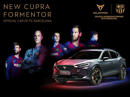 Назван официальный автомобиль футбольного клуба «Барселона»