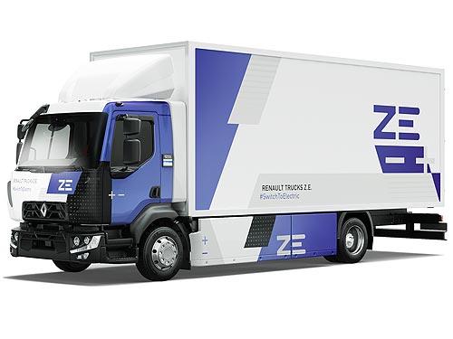 Renault Trucks поставила первый серийный электрогрузовик Renault D Z.E. - Renault