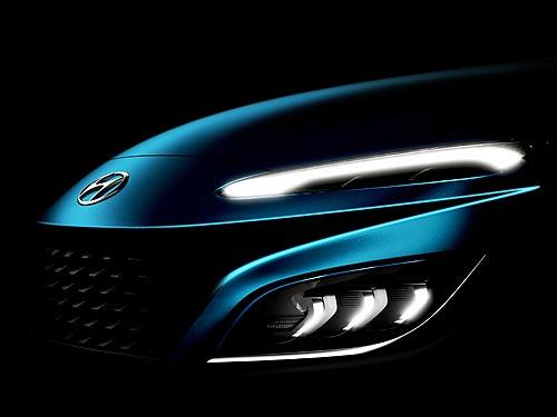 Каким будет обновленный кроссовер Hyundai Kona. Первые тизеры - Hyundai
