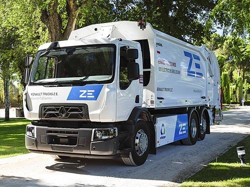 В Барселоне начал работать первый серийный 100% электрический грузовик Renault D Wide Z.E. - Renault
