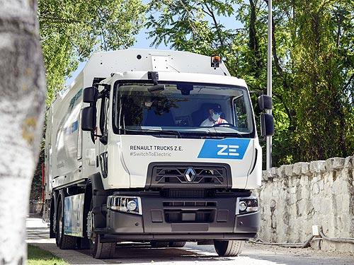 В Барселоне начал работать первый серийный 100% электрический грузовик Renault D Wide Z.E.