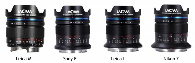 Представлен объектив Laowa 14mm f/4 FF RL Zero-D