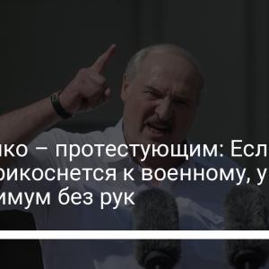 Лукашенко – протестующим: Если кто-то прикоснется к военному, уйдет как минимум без рук