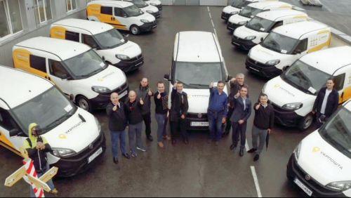 Укрпочта получили заключительную партию из 100 фургонов Fiat Doblo для передвижных отделений. На следующий год план – 1800 авто