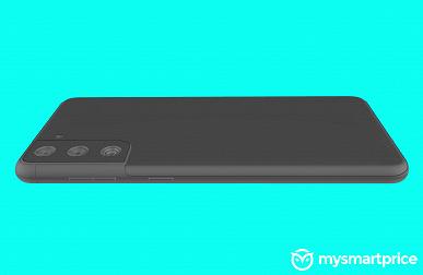 Samsung Galaxy S21+ с плоским экраном позирует на рендерах