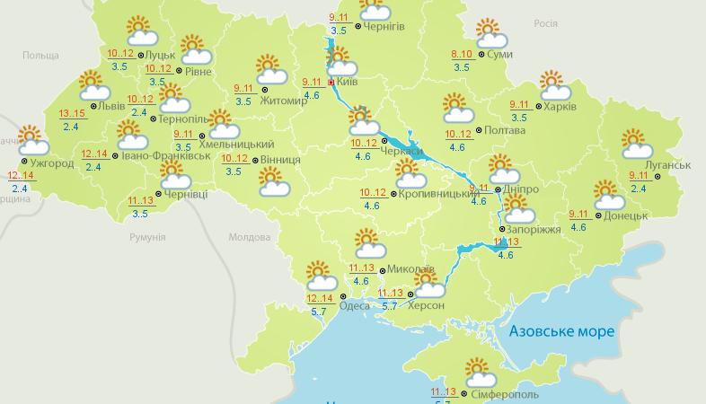 В Украину пришел антициклон Ramesh: какой будет погода – карта