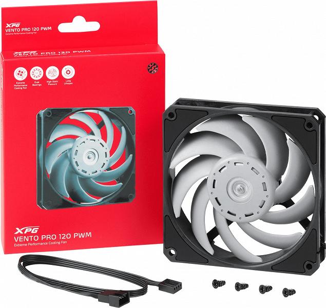 Вентилятор Adata XPG Vento Pro 120 PWM разработан совместно с Nidec