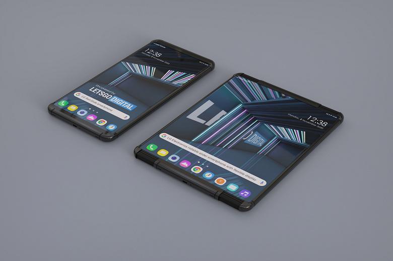 Предполагаемые изображения смартфона LG с растягивающимся экраном