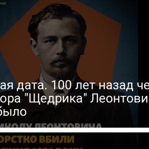 """Печальная дата. 100 лет назад чекист убил автора """"Щедрика"""" Леонтовича: как это было"""