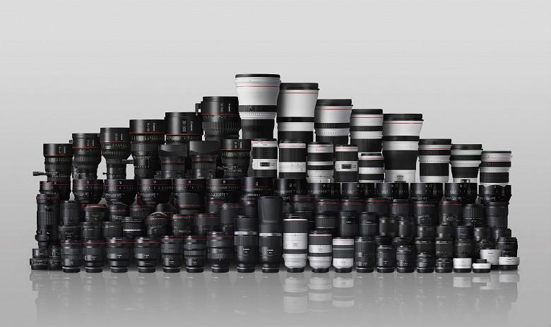 Выпущено 150 млн сменных объективов Canon RF и EF