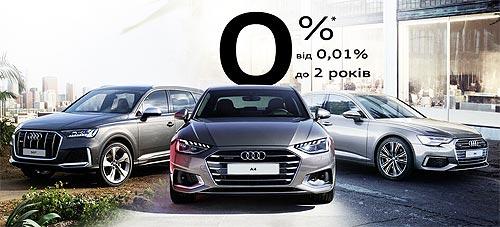 На Audi доступны новые программы финансирования от 0,01% годовых на 2 года