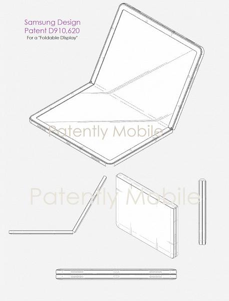 Samsung выдали патент на складной дисплей для планшетов