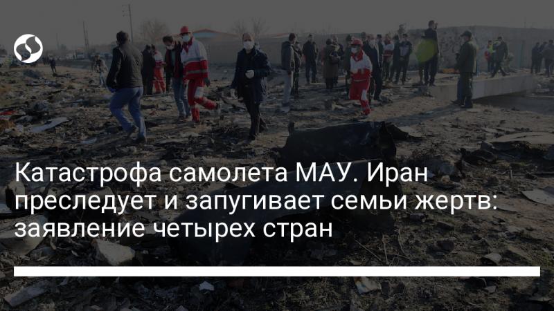 Катастрофа самолета МАУ. Иран преследует и запугивает семьи жертв: заявление четырех стран