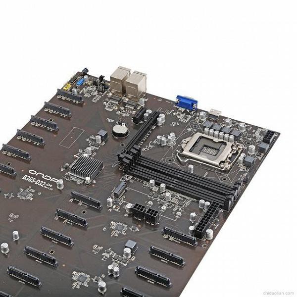 Представлена идеальная материнская плата для майнинга при помощи SSD и HDD. У нее 32 порта SATA