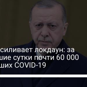 Турция усиливает локдаун: за прошедшие сутки почти 60 000 заболевших COVID-19