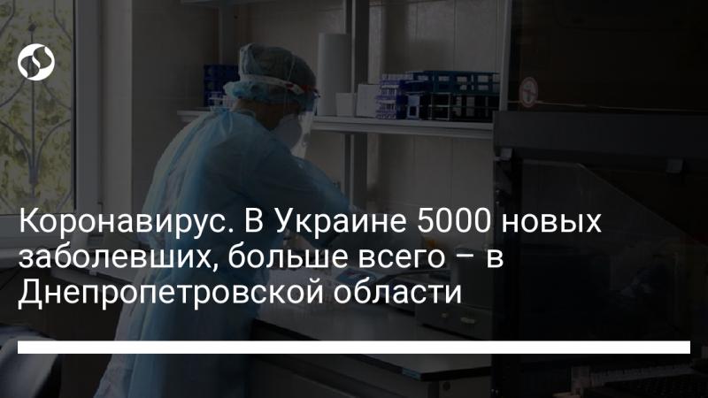 Коронавирус. В Украине 5000 новых заболевших, больше всего – в Днепропетровской области