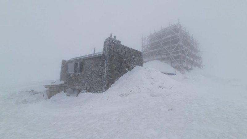 На горе Поп Иван Черногорский тихо, снежно, небольшой мороз