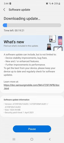 Новенький Samsung Galaxy A72 получил внушительное обновление