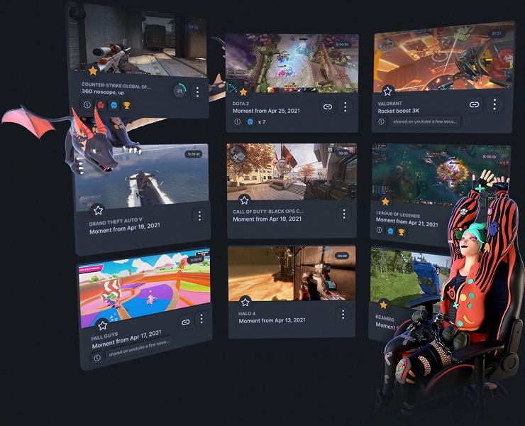 Сервис SteelSeries Moments позволяет записывать игровые моменты и делиться ими с друзьями