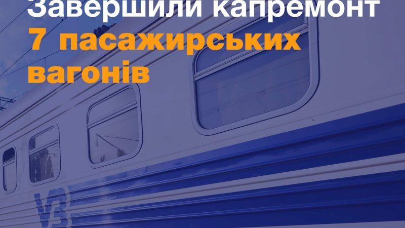 """""""Укрзализныця"""" завершила капремонт 7 пассажирских вагонов для """"Интерсити"""" Киев –Запорожье"""