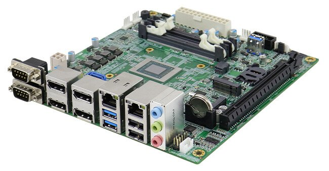 На плате iBase MI989 установлен процессор AMD Ryzen Embedded V2000