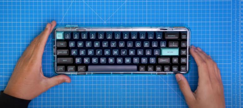 Mojo68 — механическая клавиатура в прозрачном корпусе, на выпуск которой уже собрано 730 000 долларов