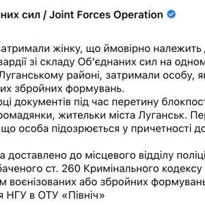 В Луганской области по подозрению в принадлежности к боевикам задержали 58-летнюю женщину
