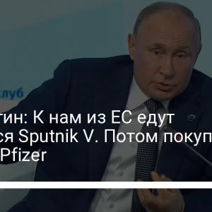 Сюр. Путин: К нам из ЕС едут уколоться Sputnik V. Потом покупают справку Pfizer